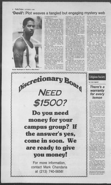 Daily Trojan, Vol. 126, No. 23, October 03, 1995