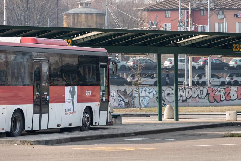 Piazzale Europa - Reggio Emilia, Italy - February 9, 2019
