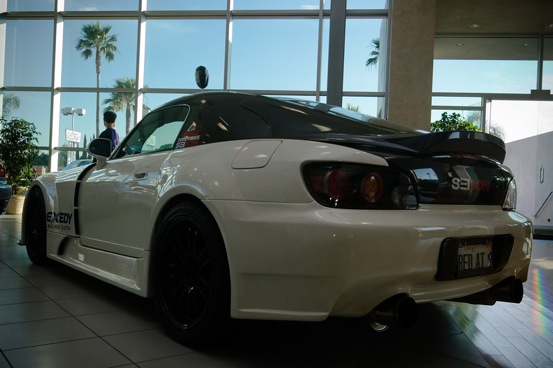 First time I have seen a Honda S2000 in an Acura showroom