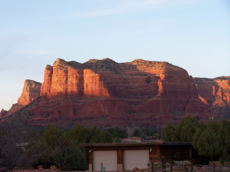 Courthouse Butte at sunset