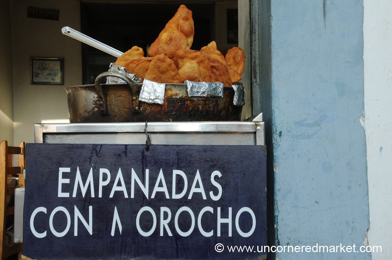 Afternoon Snack of Fried Empanadas - Otavalo, Ecuador