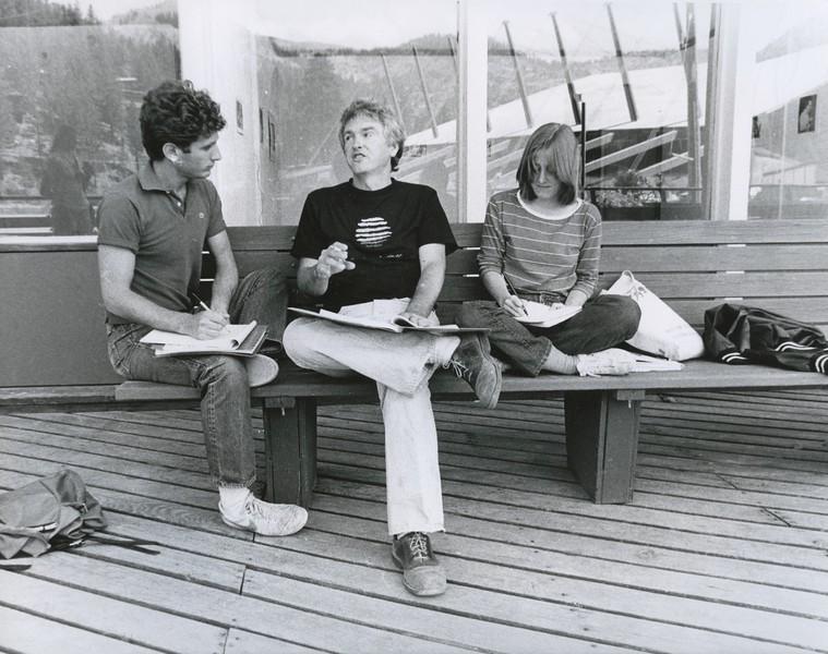 1982 - candid on a bench 1 - Tom Rickman.jpeg