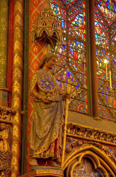Sainte-Chapelle, Paris - upper chapel interior.