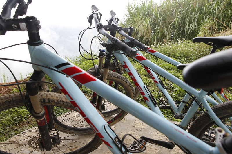 Trek Bikes at the top of the mountain at Topas Ecolodge.