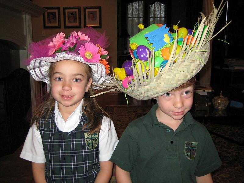 Easter bonnets.