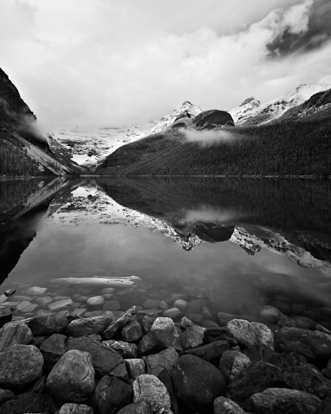 Lake Louise in IR on a Cloudy morning.