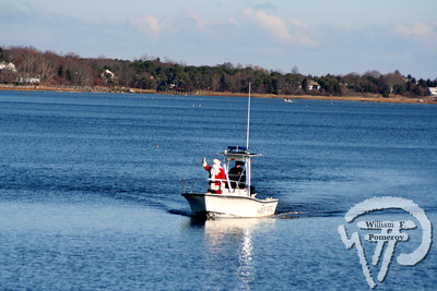 ORLEANS YACHT CLUB — santa by boat arrival. . . upon town cove — Orleans, MA 11 . 29 - 2008