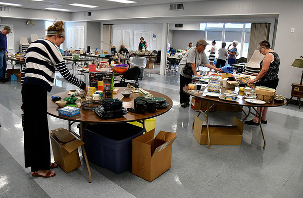 8/7/2019 Mike Orazzi | Staff The Plainville Senior Center tag sale on Wednesday.