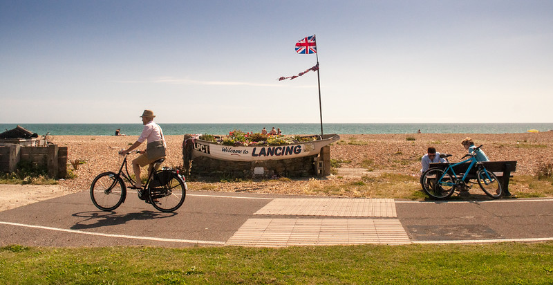 Cycling on Lancing seafront