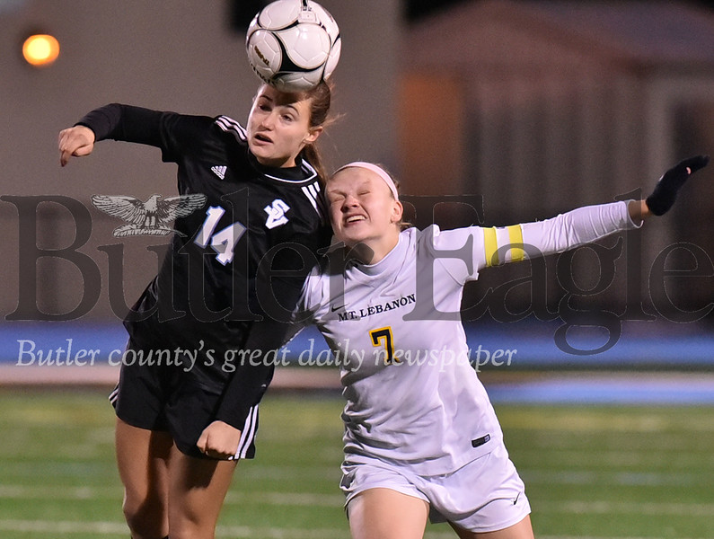 Seneca Valley vs Mount Lebanon WPIAL Class 4A girls soccer quarter final  playoff game at Seneca Valley Nextier stadium