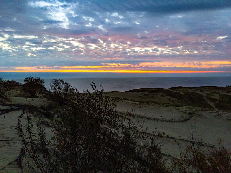 Sunrise from Parnidis dune