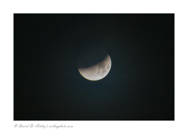 Super, blue, blood (eclipse) moon, Garden of the Gods, CO