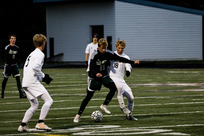Holy Family Varsity Soccer vs. Monticello Oct 11, 2018: Bishop Schugel '21 (11)