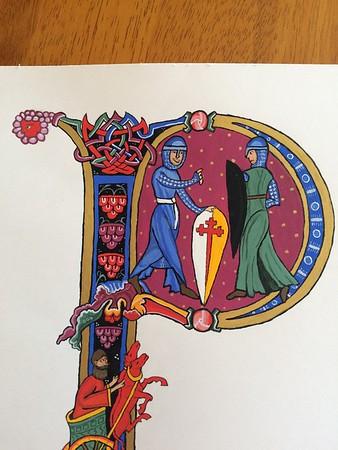 Knight Scroll for William de Rouen