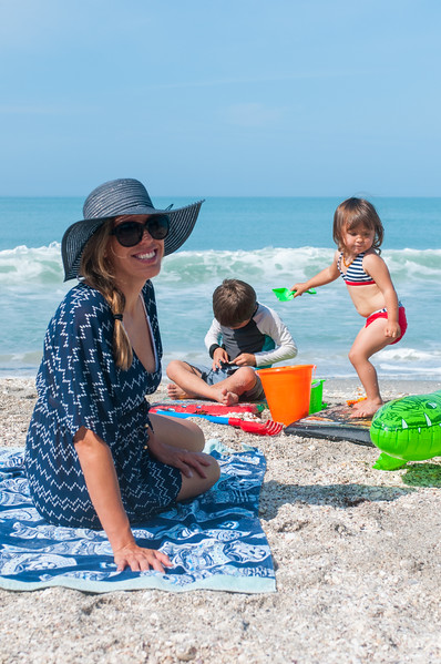Kate, William and Amelia at Blind Pass Beach, Englewood