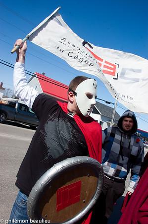 manifestation régionale de Jonquière du 27 mars 2012