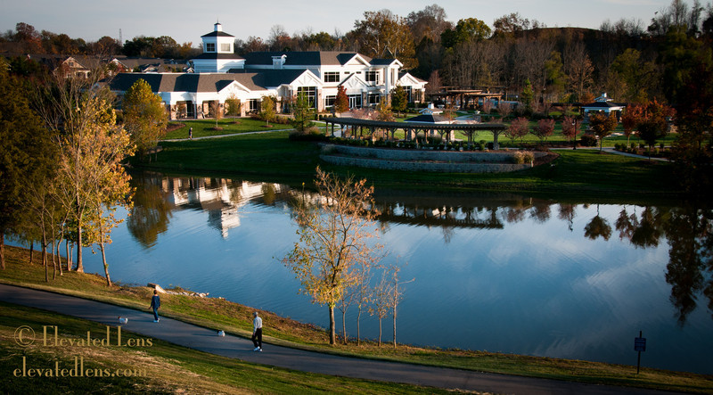 Clubhouse at Lake Providence at sunset, Mount Juliet, TN
