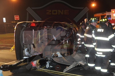 North Merrick F.D. MVA w/ Overturn and Entrapment 1285 Meadowbrook Rd. 12/9/13