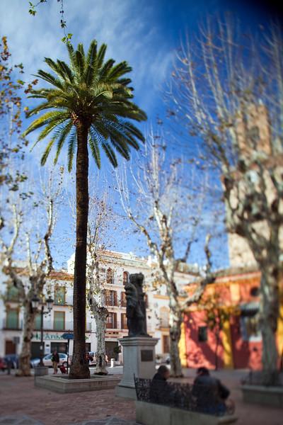San Lorenzo square, Seville, Spain. Tilted lens used for shallower depth of field.