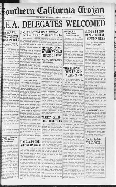 Southern California Trojan, Vol. 10, No. 3, June 30, 1931