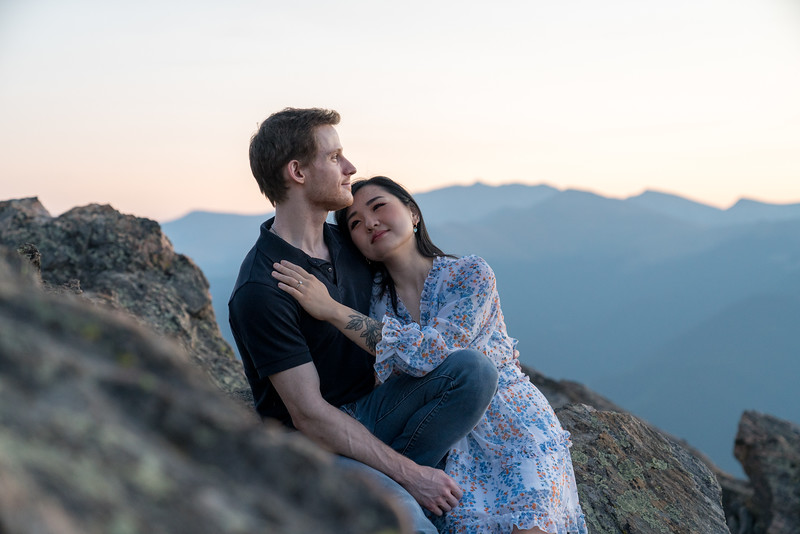 Engagement Photography | Susie and Trenton | Hiking in the Rockies