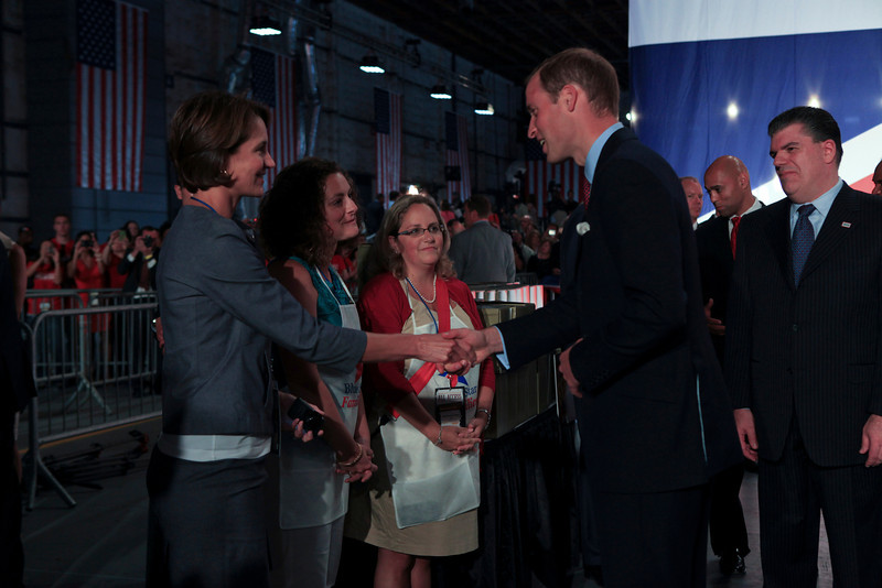 Culver City, California, USA - July 10, 2011: Hiring Our Heroes job fair at Sony Pictures Studios featuring the Duke and Duchess of Cambridge.    Photo by Ian Wagreich / © U.S. Chamber of Commerce