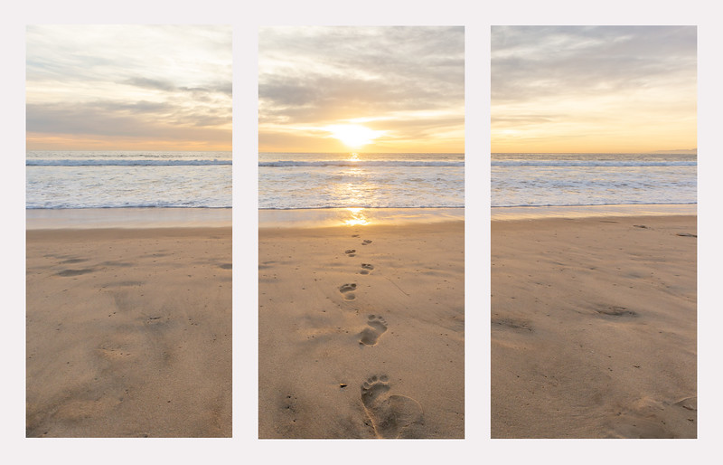 triptych footsteps sunset.jpg