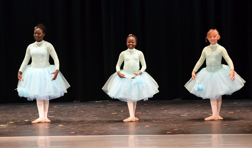 ". Avery Duvall-Young, Annabelle Tel and Bella Horton dance to ""Bippity Boppity Boo\"" at Melissa\'s School of Dance and Gymnastics\' \""Dance In Motion\"" recital June 13, 2018."