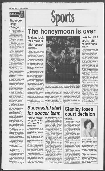 Daily Trojan, Vol. 121, No. 2, August 31, 1993