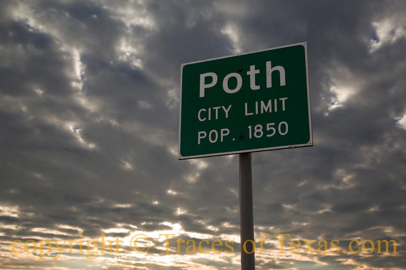 Title: Poth City Limits<br /> <br /> Comments:<br /> <br /> Location: Poth