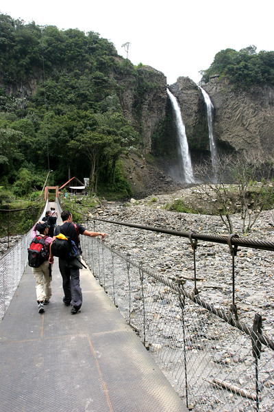 This suspension bridge that went across the bottom of the valley was a little wobbly.