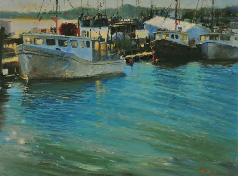 Pending Sunset (Goucester, MA) Oil on Linen 18X24