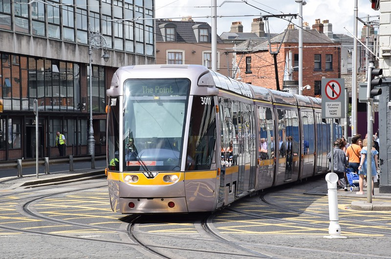 3011 crosses Amiens St 27 July 2019
