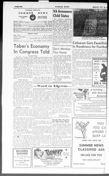 Summer News, Vol. 3, No. 12, July 19, 1948