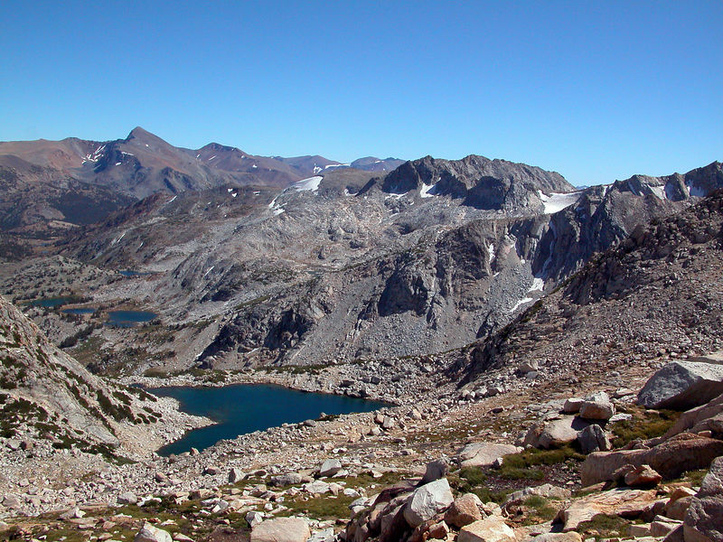 View down to Alpine Lake from the climb above