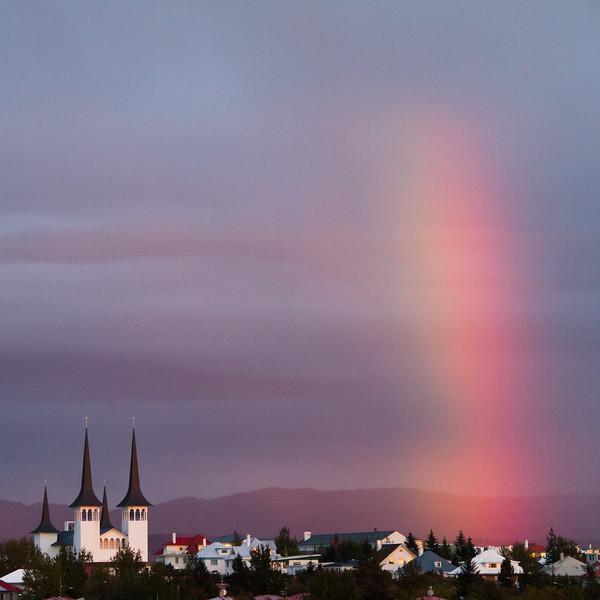 Rainbow in Reykjavik