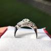 1.18ctw Art Deco Princess Halo Ring 6
