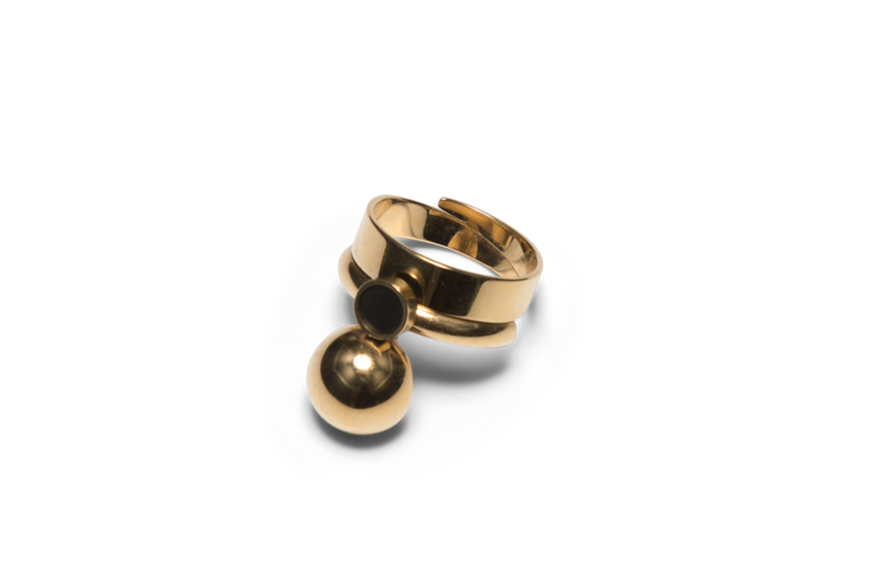 Satellite Golden R2 Ring