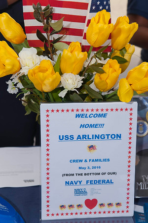 USS Arlington homecoming to Norfolk, VA from her Maiden deployment, 03 May 2016