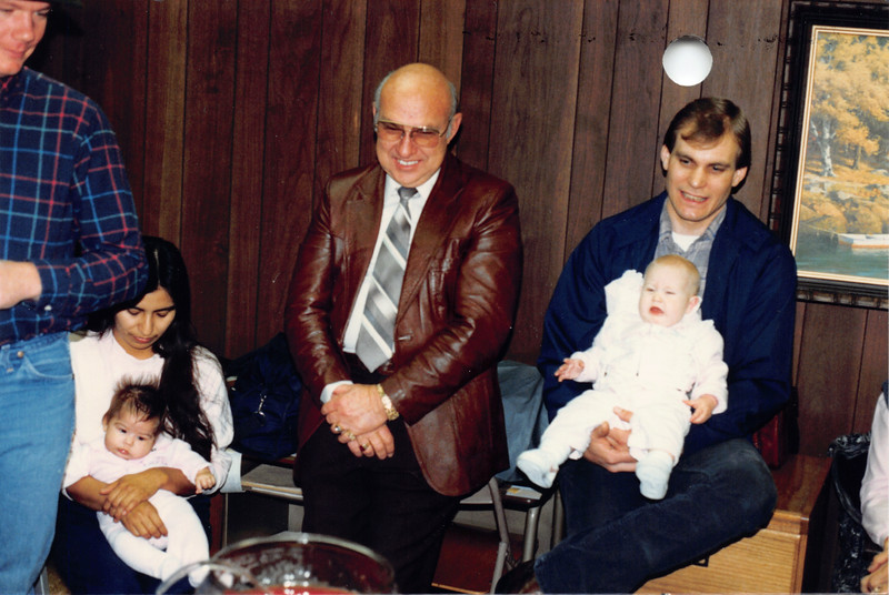 Jeff, Pat, Alianna, Clarence Peters, Tim Unruh, Chris. Dec 30 1986