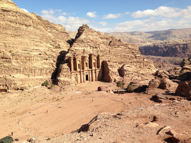 The monastery near the top of a hill, an hour or so hike from the center of Petra.