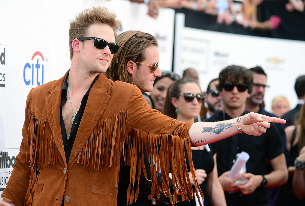 . Musicians Brian Kelley (L) and Tyler Hubbard of Florida Georgia Line attend the 2014 Billboard Music Awards at the MGM Grand Garden Arena on May 18, 2014 in Las Vegas, Nevada.  (Photo by Frazer Harrison/Getty Images)