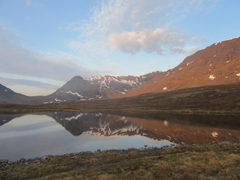 Dawn view of Ben Alder