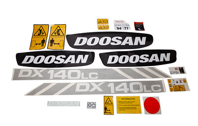 DAEWOO DOOSAN DX 140 SERIES DECAL SET