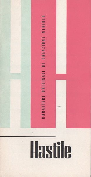 Folding brochure of Hastile (type created in 1940). 1970s.