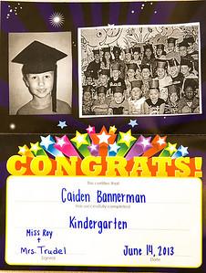 Caiden's Pre K Award (Graduation) 6-14-13