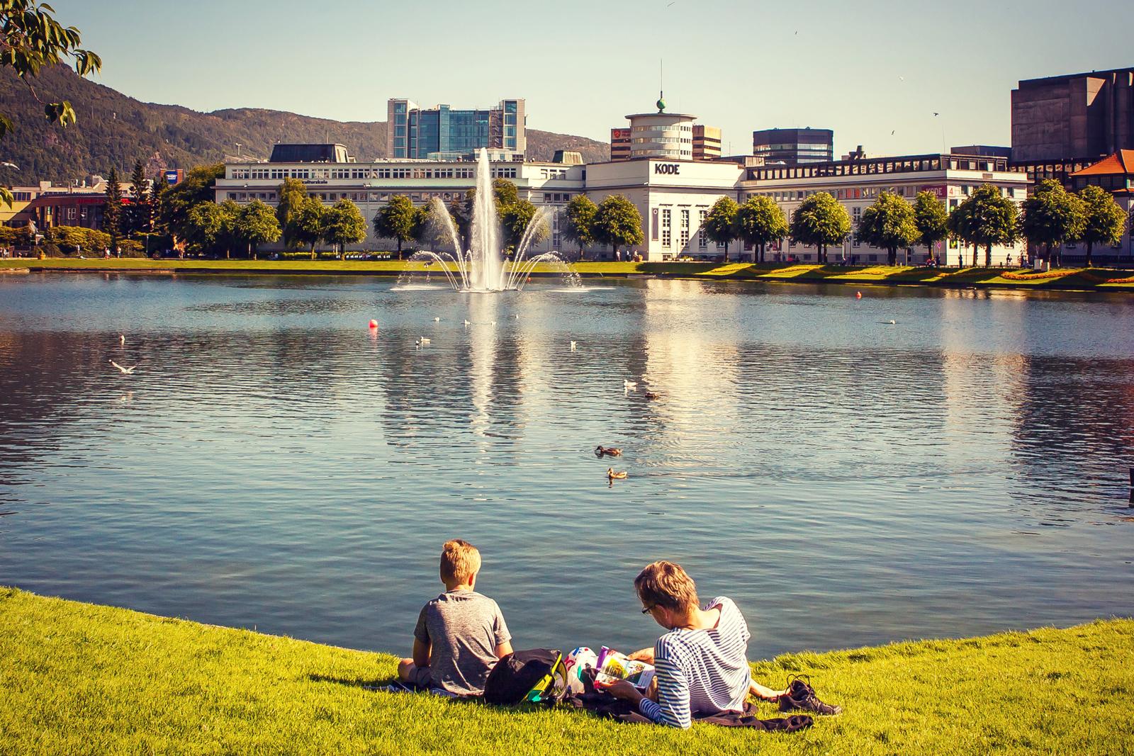 挪威卑尔根市,悠闲的生活