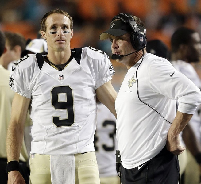. <p><b> Falcons at Saints (-3):</b>  <p>New Orleans coach Sean Payton is back after his one-year suspension. Unfortunately, so is his bounty-less defense. <p>Pick: <b>Falcons by 4</b> <p>    (AP Photo/Wilfredo Lee)