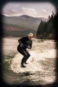 Surfing behind the Boat, Liberty Lake, Washington