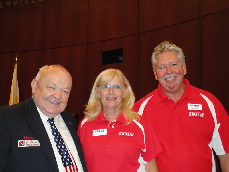 Mayor A. George Pradel, President Emy Trotz, Chair Americanism Marty Walker.JPG